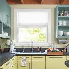 a mix of open shelving uppers with upper cabinets