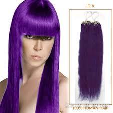 1 Gram Micro Loop Hair Extensions by Inch Lila Micro Loop Human Hair Extensions 100s