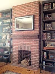 painted brick fireplace e2 80 93 house over head but this spring