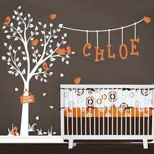 Wall Name Decals For Nursery Nursery Wall Decals Garden Tree Wall Decal With Custom Name