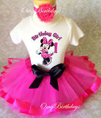 1st birthday tutu minnie mouse hot pink black baby girl 1st birthday tutu