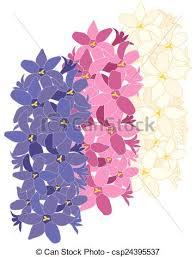 Hyacinth Flower Vectors Of Hyacinth Flower Design Three Hyacinth Flowers In