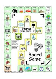 Participle Worksheet Board Game Have You Ever Movers Pinterest Board Gaming