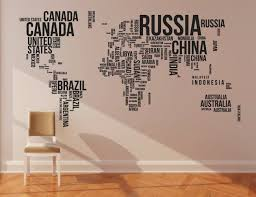 world map words cool wall decal interior design and world map wall stickers good decal