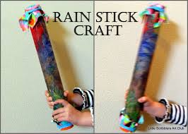 little scribblers art club rain stick craft