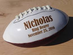 engraved football gifts groomsmen gift ring bearer gift personalized football gifts