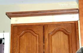 how to add crown molding to kitchen cabinets adding crown molding to kitchen cabinets before after trendyexaminer