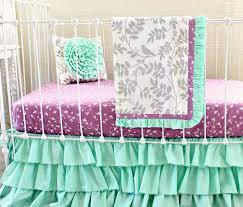 Aqua And Grey Crib Bedding Purple And Grey Crib Bedding Sets Labrevolution2017
