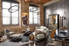 exposed brick wall lighting living room design exposed brick wall stencil furniture industrial