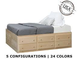 6 Drawer Bed Frame Storage Bed