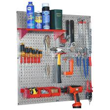 shop wall control 23 piece steel pegboards kit actual 16 in x 32