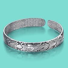 solid silver bracelet charms images Ethnic style lady 39 s charm bracelet thai silver 925 silver bracelet jpg