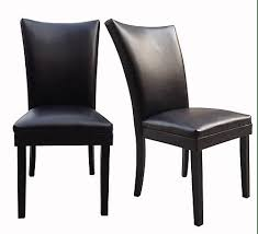 Leather Dining Chairs Canada Sofya Parsons Leather Dining Chair 2 Pack The Home Depot Canada
