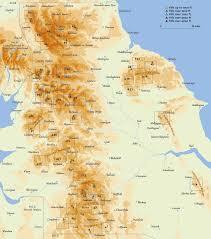 England On Map Atchison Northern England
