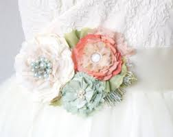 coral wedding dress etsy