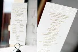 tea length wedding programs letterpress ceremony programs figura