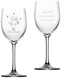 graduation wine glasses buy your personalised chilli s graduation wine glass