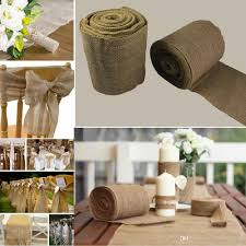 10 meter vintage jute roll ribbon for wedding reception table