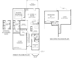 Master Bedroom Above Garage Floor Plans House Plan 2545 Englewood Floor Plan Traditional 1 1 2 Story