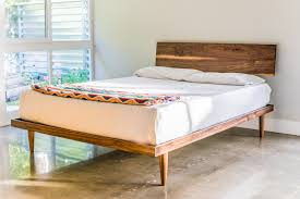 the western bed mid century modern style platform bed