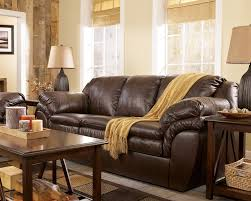 Faux Leather Living Room Set Harness Brown Contemporary Faux Leather Living Room By 84603