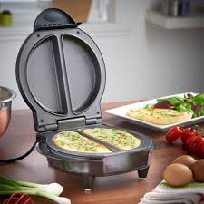 vonshef electric omelette maker non stick egg frying pan cooker 700w
