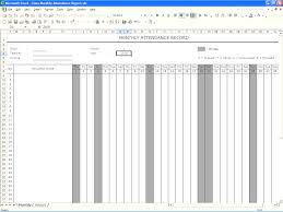 Spreadsheet Word Attendance Book Template Masir