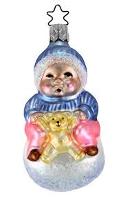 snowball baby blue from inge glas of germany oldest christmas