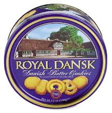 royal dansk butter cookies 12 oz tin free shipping new