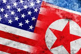 Old Flag Usa Usa And North Korea Flag With A Vintage And Old Look Stock Photo