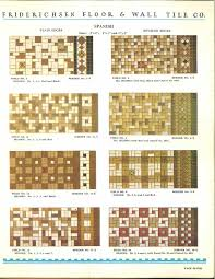112 patterns of mosaic floor tile in amazing colors 1930s