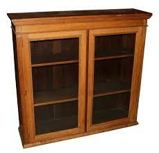 oak bookcases with glass doors bookcase 39 sensational low wide oak bookcase picture