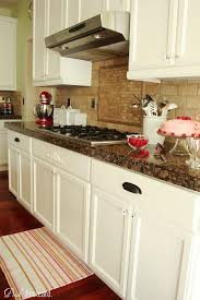 White Cabinets Brown Granite by Remodelaholic Wood Kitchen Cabinets Updated To White