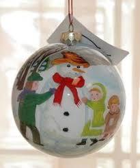 li bien inside painted christmas ornament angel blowing trumpet w