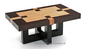 modern wood coffee table soft modern coffee table inlay refined rustic elegant