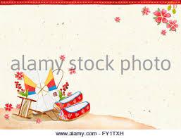 korean new year card craft korean new year tradition logo korean fan stock photo