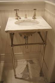pedestal sink with legs sink undermount sink with marble top on console legs remodeledstal