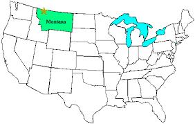 glacier national park on a us map glacier national park