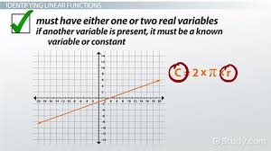 what is a linear function definition u0026 examples video
