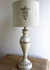 table lamp vintage distressed gilded ivory shabby chic ornate