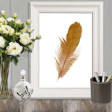 feather home decor gold feather print copper home decor gold feather printable