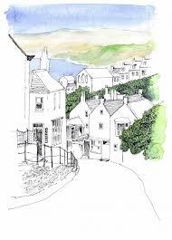 robin hoods bay by john harrison art sketches illustrations