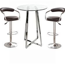 round bar table and stools long bar table and stools home furnishings regarding round ideas