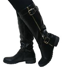 womens knee length boots uk stylish s black boots popfashiontrends