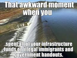 California Meme - when the water rolls over the wall imgflip