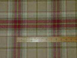 Red Plaid Upholstery Fabric Wool Tartan Plaid Red Beige Check Fabric Curtain Upholstery