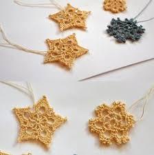 6 crochet snowflake ornaments large snowflake b84 in white