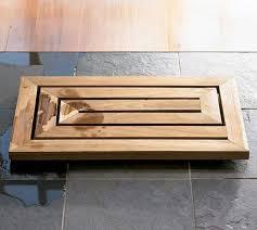 Teak Bath Mat Carved Bamboo Bath Mats Teak Bath Mat By Toiletfree