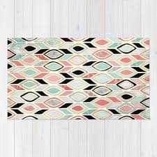 best mint and coral rug products on wanelo