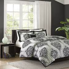 White Black Comforter Sets Beautiful Modern Chic Contemporary Reversible Grey White Black
